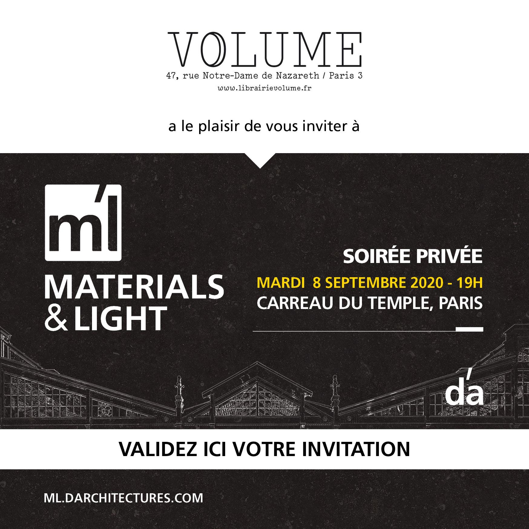 Invitation MATERIAL&LIGHT